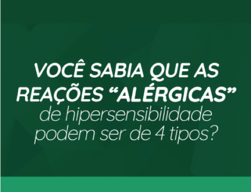 4 tipos de reações alérgicas de hipersensibilidade